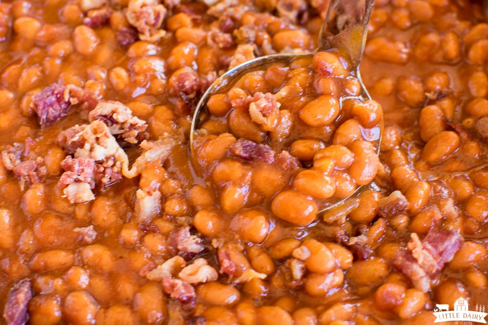 Smoked Baked Beans with bacon