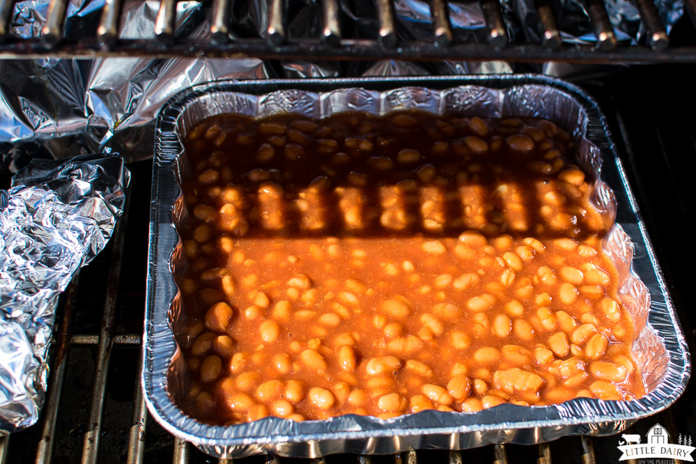 baked beans on the smoker or grill