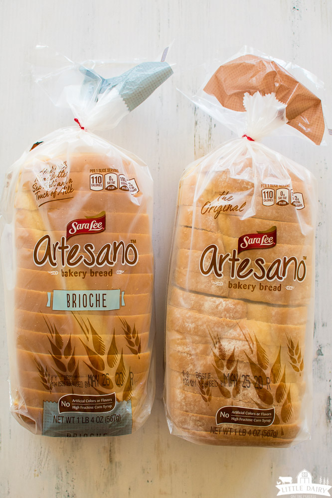 two loaves of bread in the bag from Sara Lee. Artesano bread.