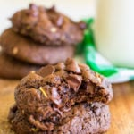 Insanely Delicious Chocolate Zucchini Cookies