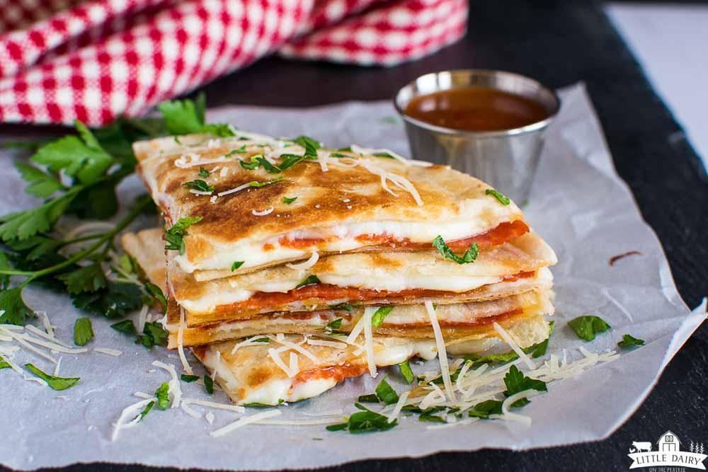 crispy tortilla quesadillas