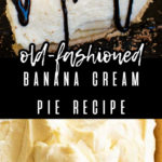 two images of banana cream pie with a text overlay