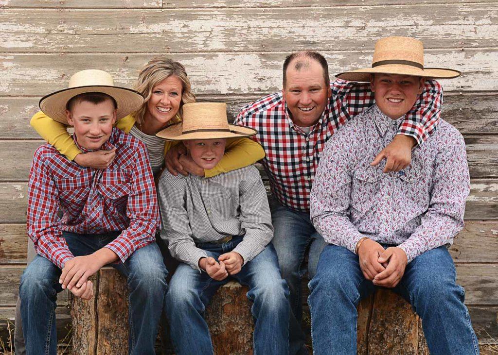 A farm family picture.